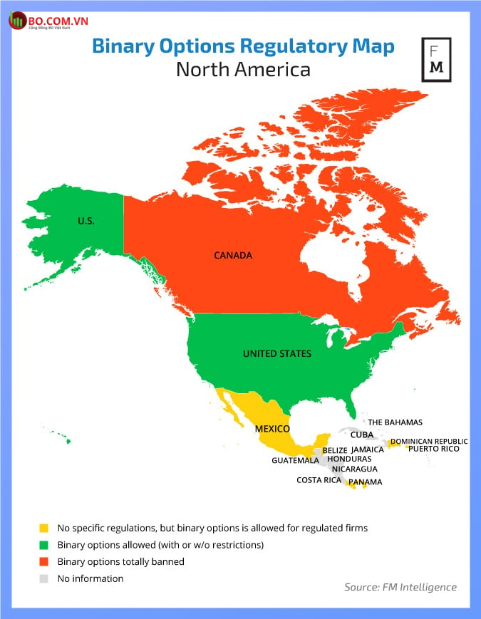 Quyền chọn nhị phân có hợp pháp trên thế giới