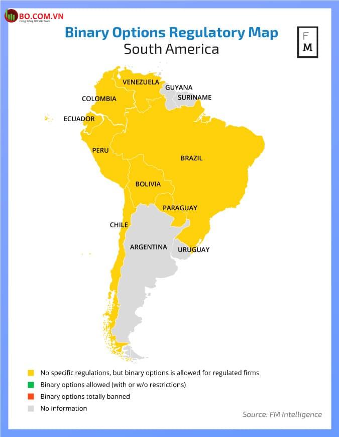 Tính pháp lý của quyền chọn nhị phân trên thế giới