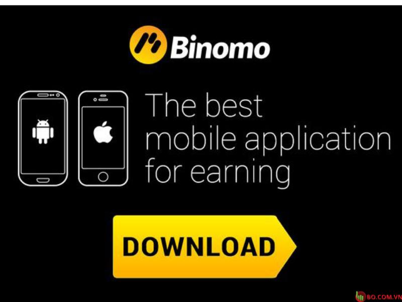 Giao dịch trên thiết bị di động Binomo