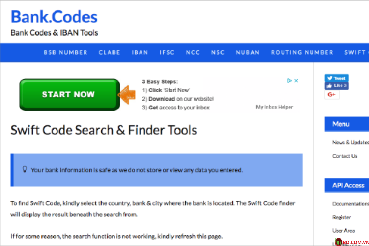 Tìm kiếm thông tin trực tuyến - Vietinbank swiftcode