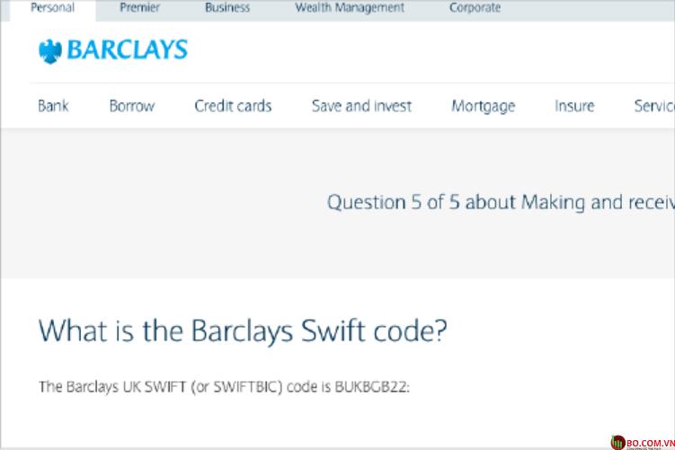 Kiểm tra trang web của ngân hàng