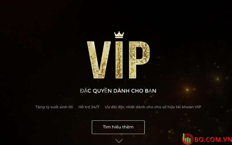 Tài khoản VIP tại sàn Binarium