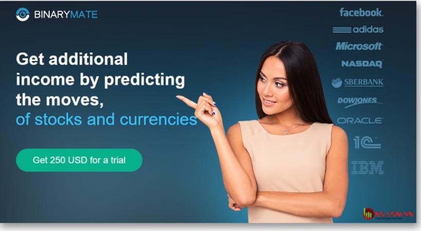 Đánh giá sàn BinaryMate Đa dạng tài sản là một ưu điểm tuyệt vời của BinaryMate.