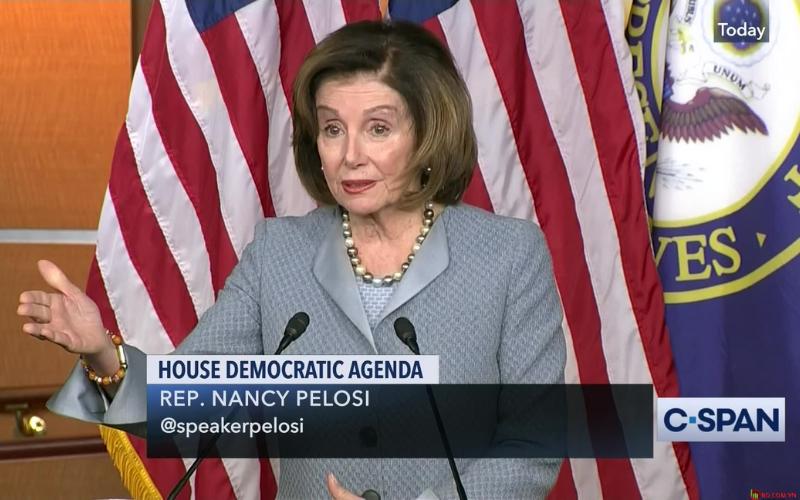 Chủ tịch Hạ viện Nancy Pelosi thuộc Đảng Dân chủ.