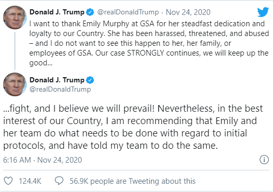 Tweet của ông Trump