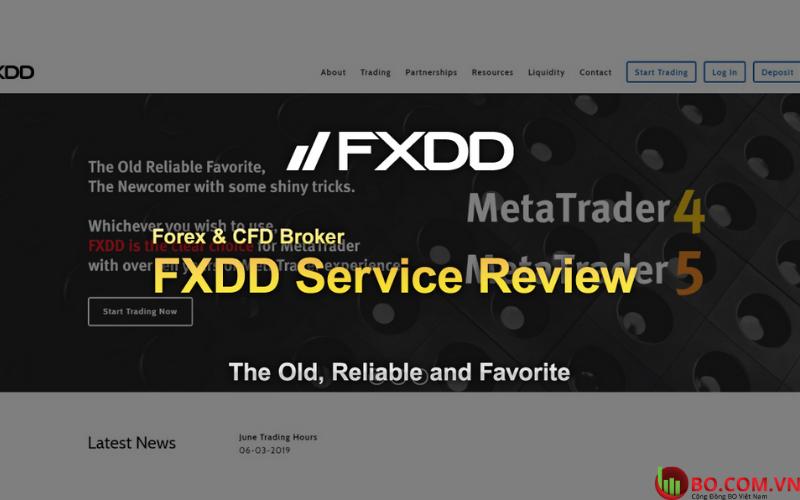 Đánh giá sàn FXDD chân thực, khách quan