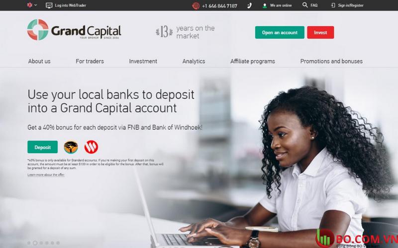 Đánh giá sàn Grand Capital 12.2020