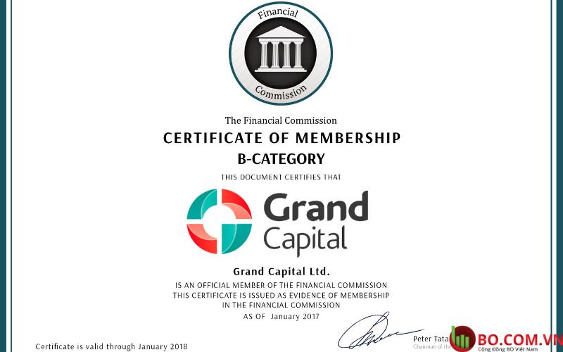Đánh giá sàn Grand Capital dựa trên quy định của Finacom