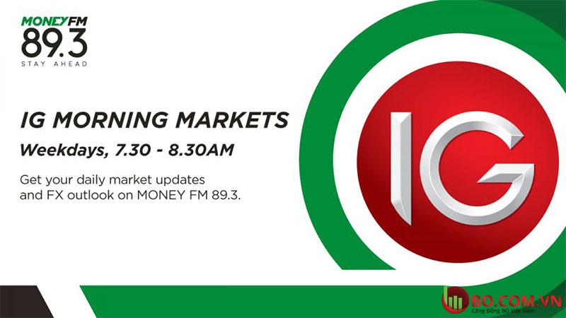 Nền tảng thanh toán thanh toán IG Markets