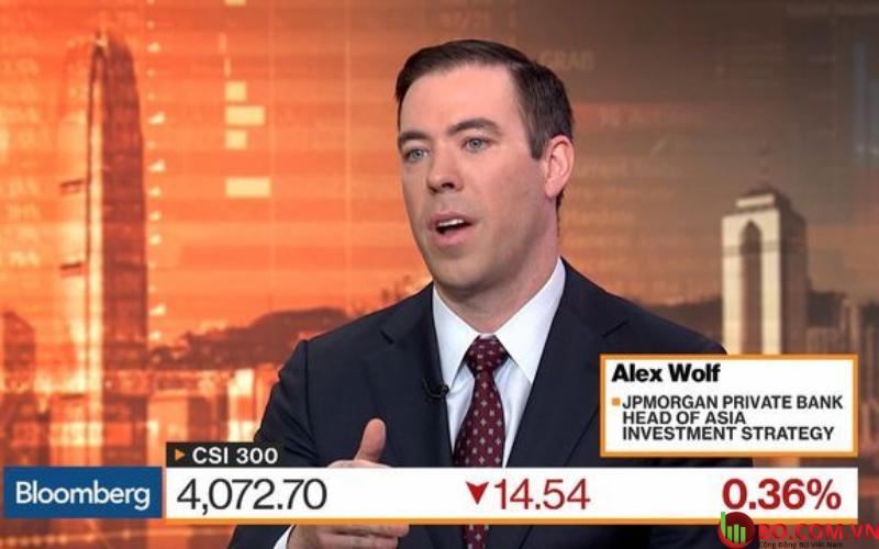 Alex Wolf trên đài Bloomberg