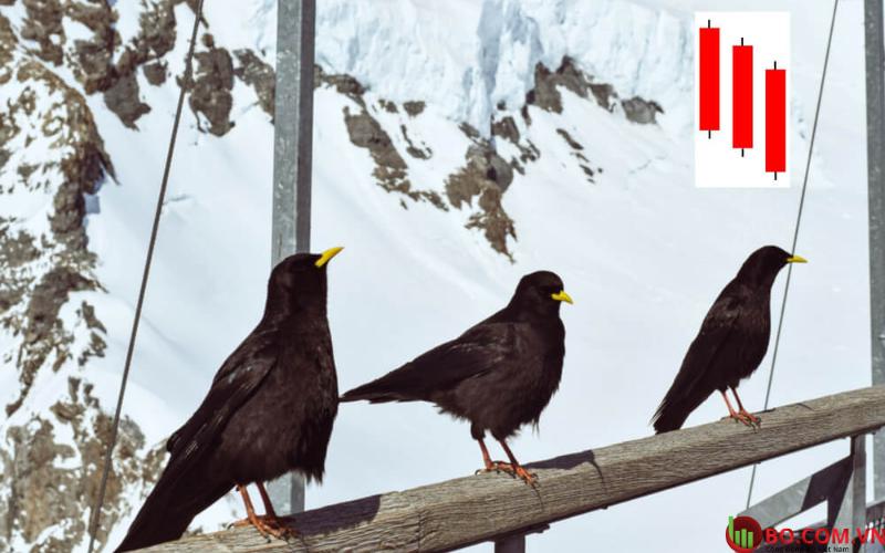 Nến Three Black Crows là gì
