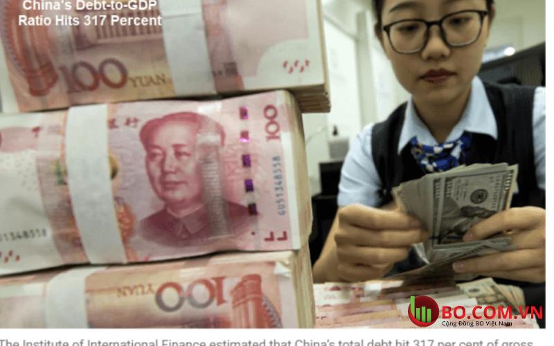Tỷ lệ nợ trên GDP của Trung Quốc đã tăng lên 285% vào cuối quý 3 năm 2020