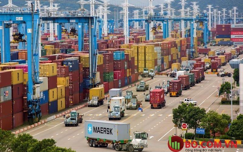 Qúa trình xuất khẩu đang phát triển mạnh mẽ